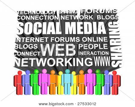 3d Icon of social media and networking icon