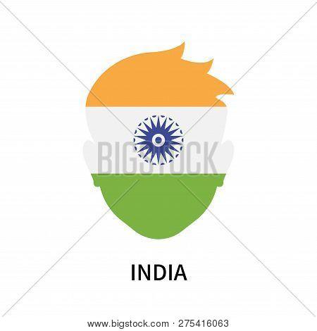 India Icon Isolated On White