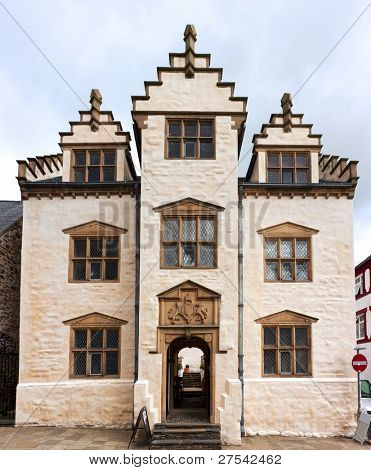 Elizabethan town house Plas Mawr at Conwy, North Wales