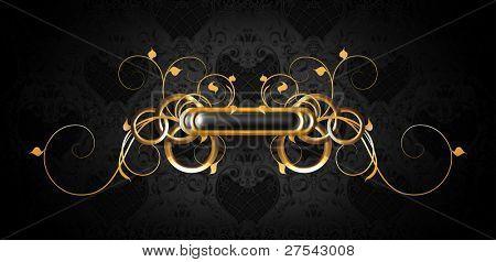 Luxury frame black on gold, bitmap copy