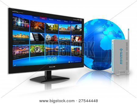 Internet television concept