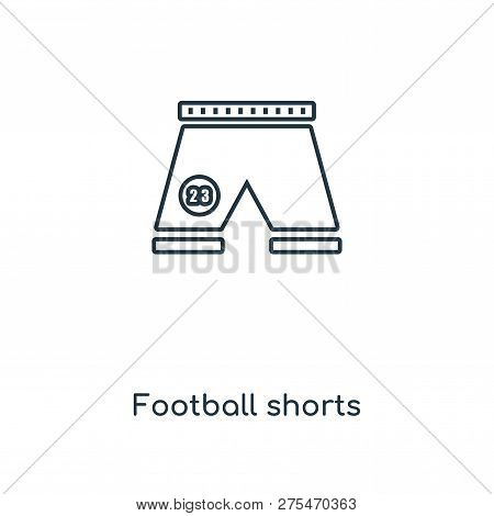 Football Shorts Icon In Trendy