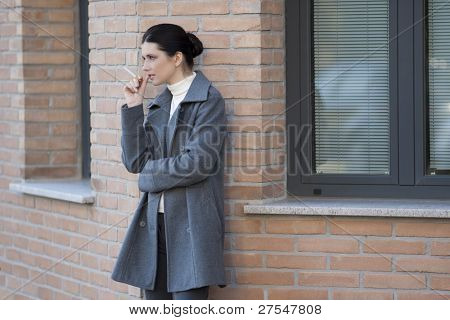 Smoker outside the office