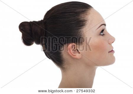 Profile of a young woman/teenage girl