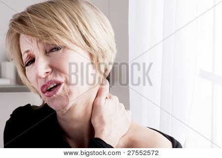 Mature Woman with neck pain
