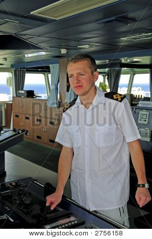 Navigation Officer Manages Devices