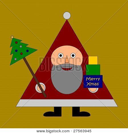 Santa Claus wishs Merry Christmas