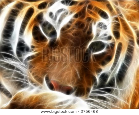 Tiger Fractal Portrait