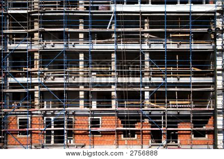 Detail Of The Facade Of A Building In Construction
