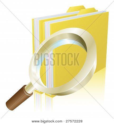 Lupe-Datei Ordner Suche Konzept