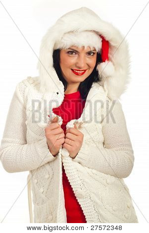 Fashionable Woman In Winter Clothes