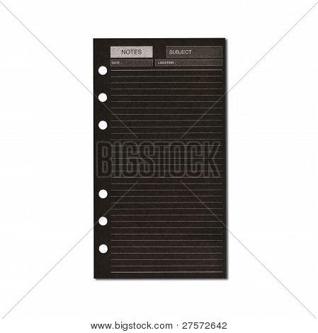 Black Business Notepaper