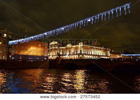 Fontanka river at night