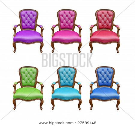 The Set Of Luxury Arm Chair