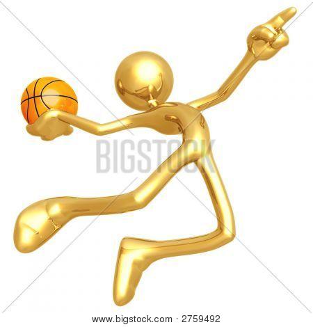 Llamar el golpe tiro de baloncesto