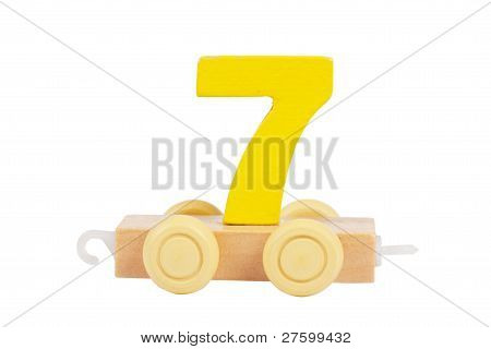 Wooden Toy Number 7
