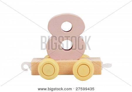 Wooden Toy Number 8
