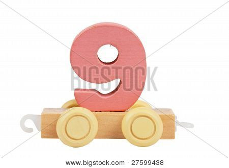Wooden Toy Number 9