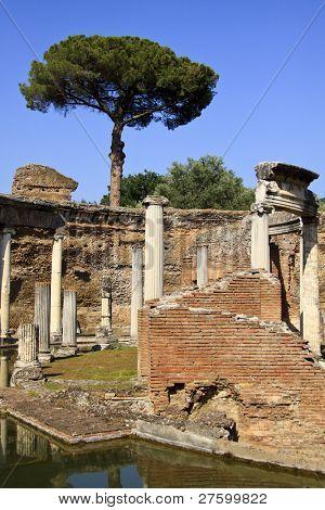 Hadrian's Villa, Roman archaeological complex at Tivoli, Italy.