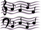 image of clip-art staff  - Here is a Grand Staff of Musical Notes - JPG