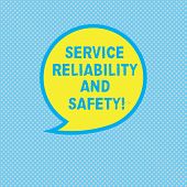 Text Sign Showing Service Reliability And Safety. Conceptual Photo Warranty Assurance Security Suppo poster