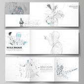 The Minimal Vector Editable Layout Of Two Square Format Covers Design Template For Trifold Square Br poster