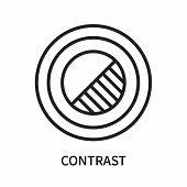 Contrast Icon Isolated On White Background. Contrast Icon Simple Sign. Contrast Icon Trendy And Mode poster