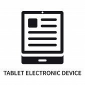 Tablet Electronic Device Icon Isolated On White Background. Tablet Electronic Device Icon Simple Sig poster