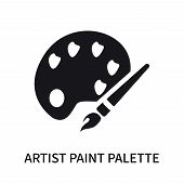 Artist Paint Palette Icon Isolated On White Background. Artist Paint Palette Icon Simple Sign. Artis poster