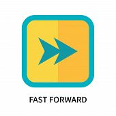 Fast Forward Icon Isolated On White Background. Fast Forward Icon Simple Sign. Fast Forward Icon Tre poster