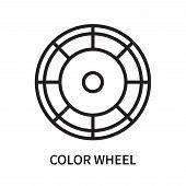 Color Wheel Icon Isolated On White Background. Color Wheel Icon Simple Sign. Color Wheel Icon Trendy poster