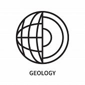 Geology Icon Isolated On White Background. Geology Icon Simple Sign. Geology Icon Trendy And Modern  poster