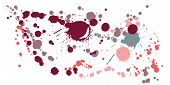 Ink Stains Grunge Background Vector. Artistic Ink Splatter, Spray Blots, Dirty Spot Elements, Wall G poster