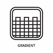 Gradient Icon Isolated On White Background. Gradient Icon Simple Sign. Gradient Icon Trendy And Mode poster