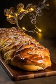 Christmas Braided Cinnamon Cake poster