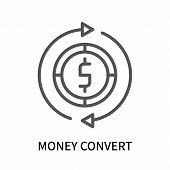 Money Convert Icon Isolated On White Background. Money Convert Icon Simple Sign. Money Convert Icon  poster