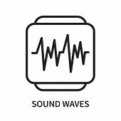 Sound Waves Icon Isolated On White Background. Sound Waves Icon Simple Sign. Sound Waves Icon Trendy poster