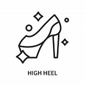 High Heel Icon Isolated On White Background. High Heel Icon Simple Sign. High Heel Icon Trendy And M poster