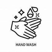 Hand Wash Icon Isolated On White Background. Hand Wash Icon Simple Sign. Hand Wash Icon Trendy And M poster