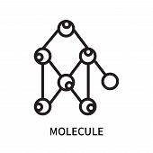 Molecule Icon Isolated On White Background. Molecule Icon Simple Sign. Molecule Icon Trendy And Mode poster