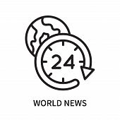 World News Icon Isolated On White Background. World News Icon Simple Sign. World News Icon Trendy An poster