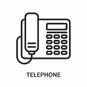 Telephone Icon Isolated On White Background. Telephone Icon Simple Sign. Telephone Icon Trendy And M poster