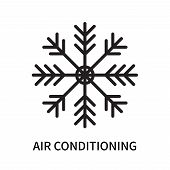 Air Conditioning Icon Isolated On White Background. Air Conditioning Icon Simple Sign. Air Condition poster