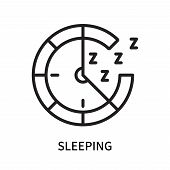 Sleeping Icon Isolated On White Background. Sleeping Icon Simple Sign. Sleeping Icon Trendy And Mode poster