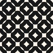 Vector Geometric Seamless Pattern With Grid, Lattice, Rounded Shapes, Squares, Rhombuses. Simple Mod poster
