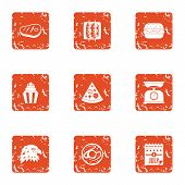 Sign Of Freedom Icons Set. Grunge Set Of 9 Sign Of Freedom Icons For Web Isolated On White Backgroun poster