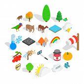 Wildlife Sanctuary Icons Set. Isometric Set Of 25 Wildlife Sanctuary Icons For Web Isolated On White poster