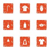 Remedy Icons Set. Grunge Set Of 9 Remedy Icons For Web Isolated On White Background poster