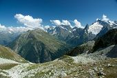 stock photo of firn  - The mountains in the spring and summer General condition of spring and summer in the mountains  - JPG