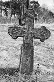 Old stone grave cross in David-town